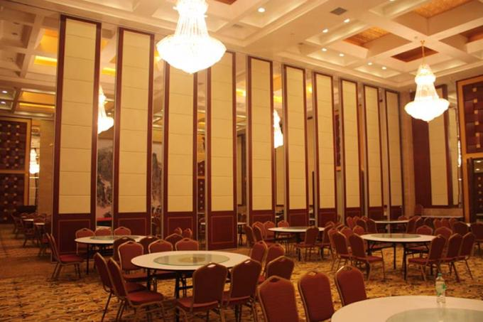 Wooden Hanging Sliding Door , Interior Sliding Partition For Meeting Room