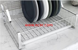 Dish Drying Kitchen Wire Baskets Chrome / Powder Coating Elegant Design