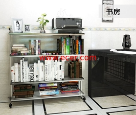 China 3-Tier Stainless Steel Storage Racks On Wheels Multi - Functional Saving Space supplier
