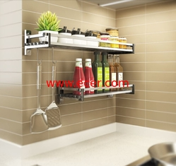 Simple Houseware Wall Mounted Kitchen Rack Innovative Design For Heavy Loads supplier