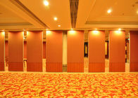 China Conference Room Folding Partition Wall , Aluminium Folding Sliding Doors Hotel Room Divider factory
