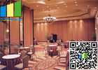 China Room Dividers Aluminum Sliding Doors 55 Rw Acoustic Rate 45 / 55 Db factory