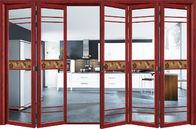 Commercial Exterior Double Folding Doors / Aluminium Folding Patio Doors