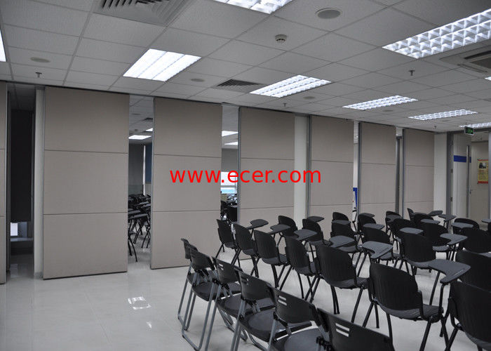 China Plywood Meeting Room Hanging Sliding Door Banquet Hall Partition Wall factory