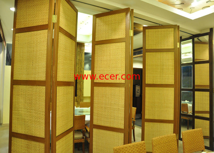 China Folding Hanging Sliding Door , 65mm Training Room Folding Partition factory