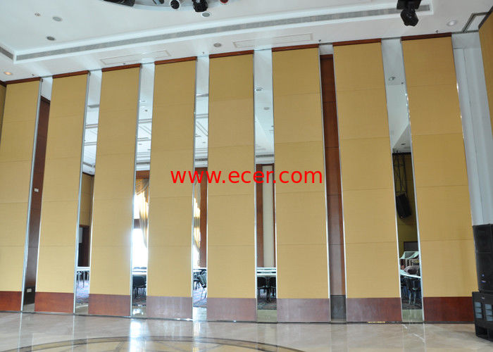 China Office Hanging Sliding Door  , Sliding Folding Doors , 85mm Melamine Partition Wall factory