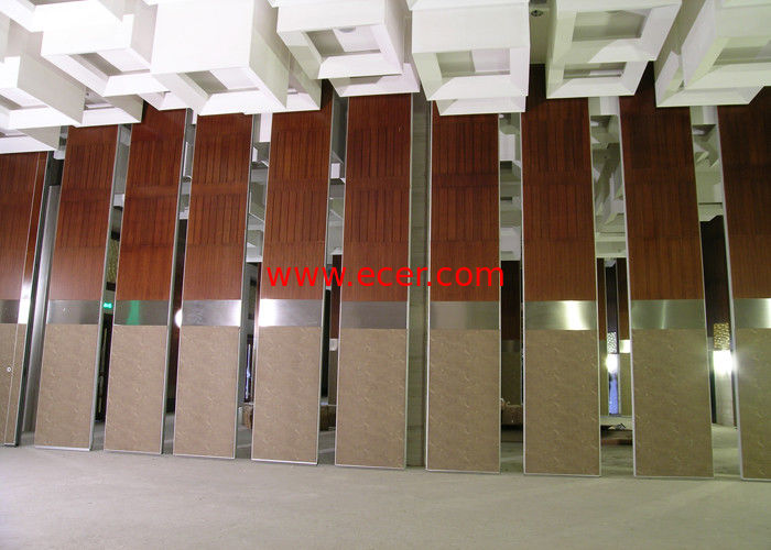 Room Partition Wall , Office Operable Partition Wall 85MM Melamine Panel
