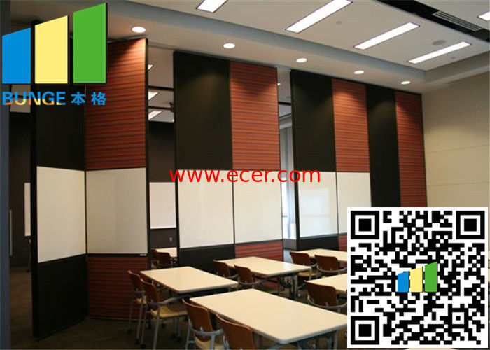 Functional Operable Wall Custom Sliding Doors Room Separator Partition With Wall Papper