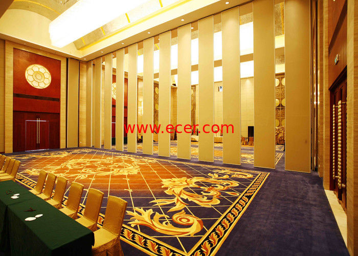 Folding wall partitions ,  Office  Aluminum Sliding Doors , Room Dividers For Hotel