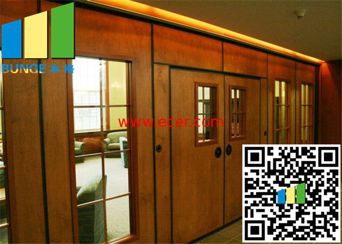 Acoustic Rate 45 Db Commercial Sliding Doors Wall Partition 3.346 Inch Thickness