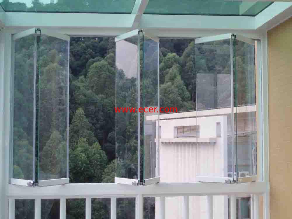 Blue green double folding glass windows reflectived coated with grill  stokkelandfo Images