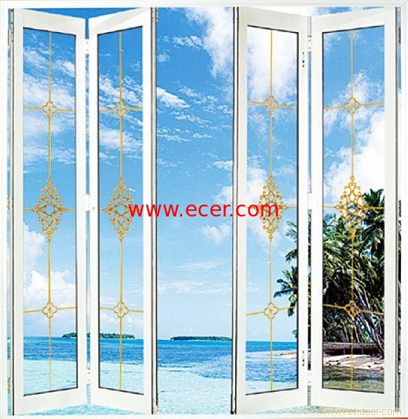 White foldable sliding doors clear interior bifold doors with glass for Interior folding doors with glass