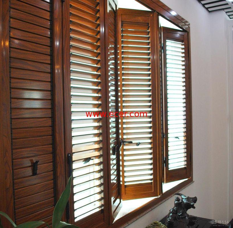 Residential Bi Fold Aluminium Windows  / Collapsible Windows With Louver
