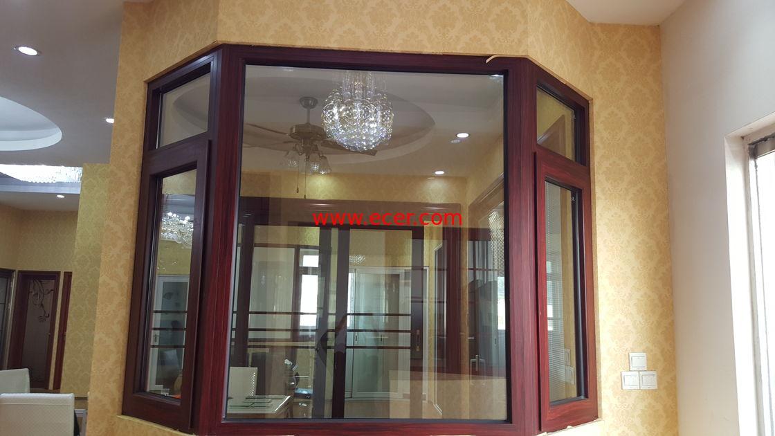 Soundproof Windpressure Aluminium Casement Windows Side Hung Villa Anodized Silver