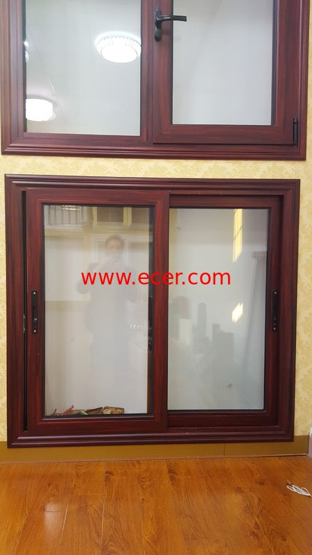 Thermal Break Aluminium Sliding Windows Villa Energy Saving Building Bedroom