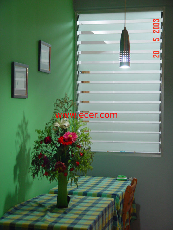 China Clear Adjustable Glass Shutter Window Vertical Blinds For Commercial  Supplier