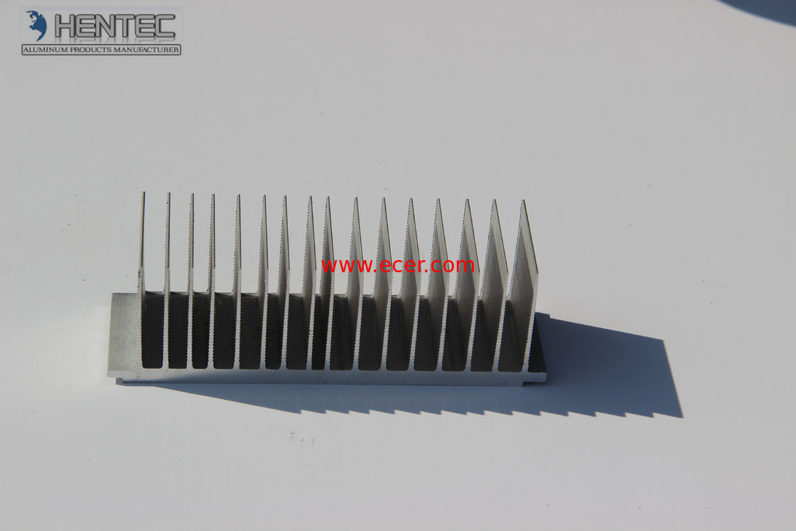 6061 / 6063  aluminum heat sink extrusions with CNC Machining , Bending , Polishing