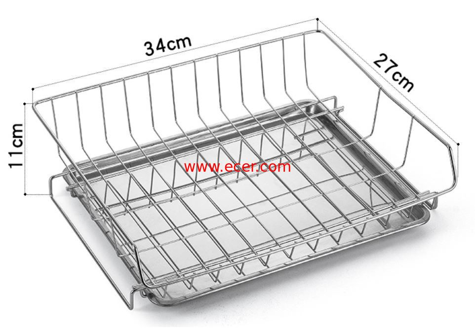 China Modern Steel Rust Proof Metal Kitchen Accessories Dish Drying Rack Drain Board factory