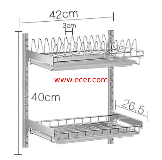 China Wall Mounted Kitchen Storage Baskets , Free Move Kitchen Corner Wire Baskets factory