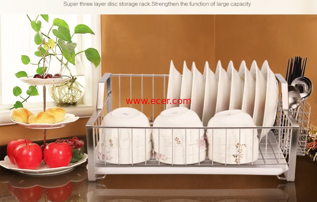 China Rust Proof Kitchen Wire Baskets Durable Stainless Steel Materials With Chopstick Holder factory