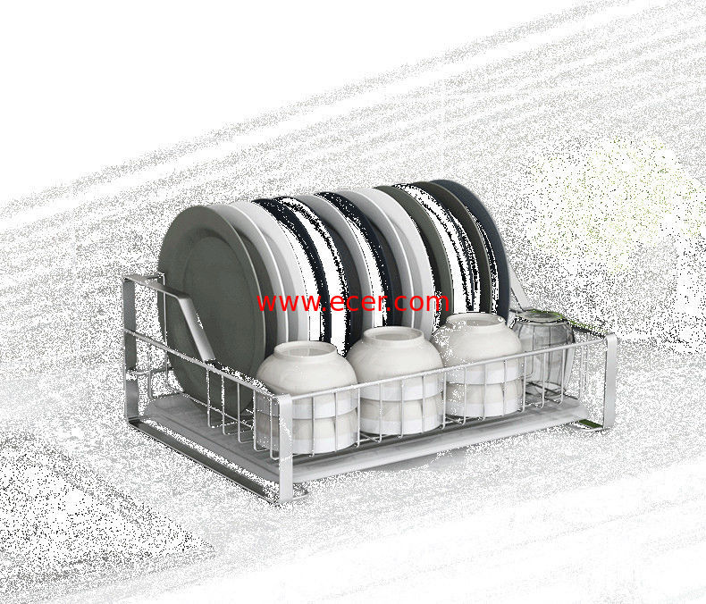 China Countertop Kitchen Storage Baskets , Alkali Damage Resistant Kitchen Corner Wire Baskets factory