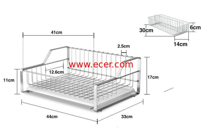 China Fruit And Food Store Kitchen Wire Baskets With Flat Design Of The Bottom Tier factory