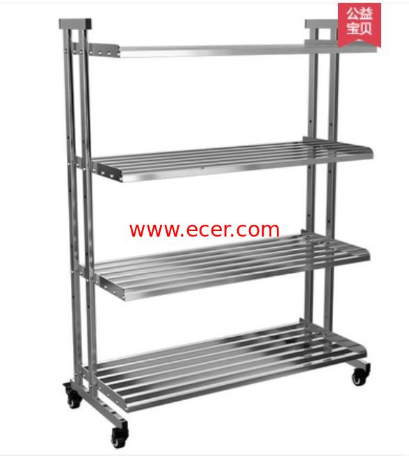 China Drilling Kitchen Rack On Wheels , Clutter - Free Metal Shelves In Kitchen factory
