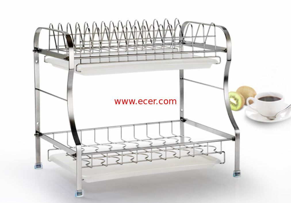 China 2 Tier Stainless Steel Storage Racks On Wheels Free Move For Home Kitchen factory
