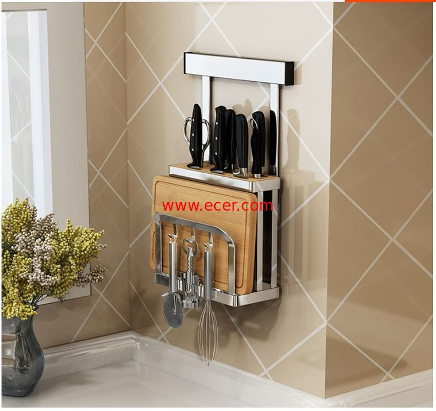 China Save Space Design Wall Mounted Plate Racks For Kitchens Anti - Rust factory