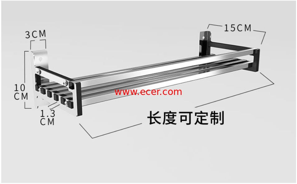 China Office And More Floating Wall Mounted Kitchen Rack 304 Stainless Steel Material factory