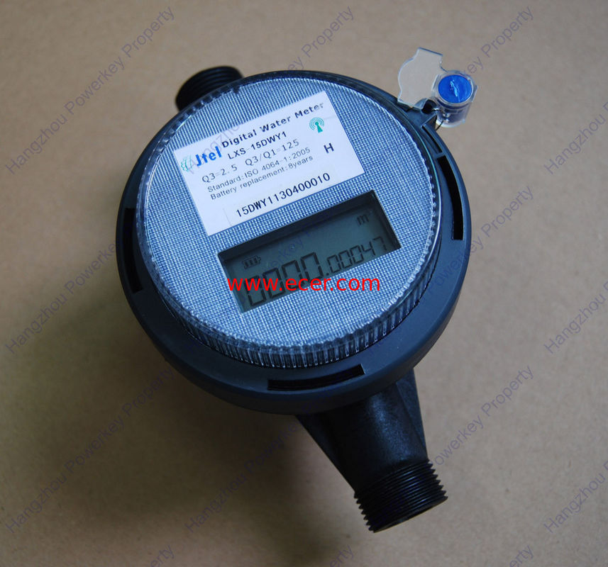 Small PDA Remote Reading Water Meter Amr Class C For Domestic , Office Building