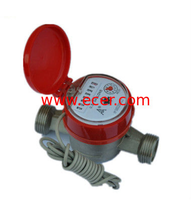 Residential  Single Jet Dry Dial Remote Reading Water Meter for Hot Water