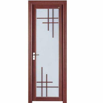 China Ventilation Bathroom Aluminium Casement Door Energy Saving With Tinted Glass distributor