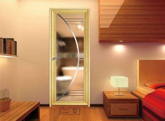 China Toilet , Kitchen Glass Aluminium Doors / Decorative Double Glass Doors distributor