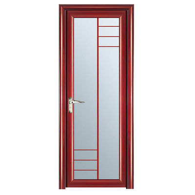 China 5 mm Toilet Glass Aluminium Doors / Clear  Frosted Double Glass Doors distributor
