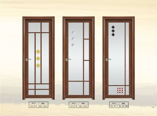 1.4 mm Clear Glass Interior Aluminium Casement Door With Grill Design