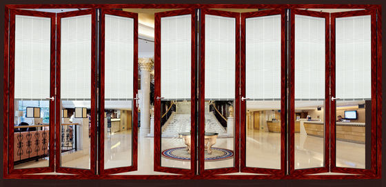 Aluminum Interior Folding Glass Door 2.0mm Thickness Finish Surface