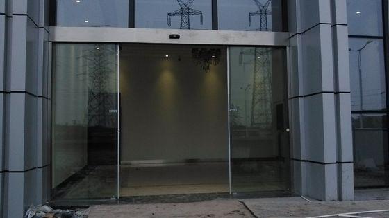 China Double Exterior Frameless Automatic Glass Door Slider Energy Saving distributor