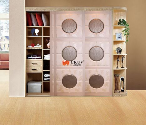 Kitchen Plastic Remote Control Leather Sliding Door With Aluminum Track w650-1000mm