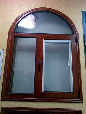 China Woodern Grain Painted Alu Casement Windows Tilt And Turn Louver Window Design distributor