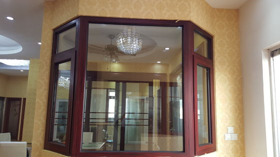 Soundproof Windpressure Aluminium Casement Windows Side Hung Villa Anodized Silver