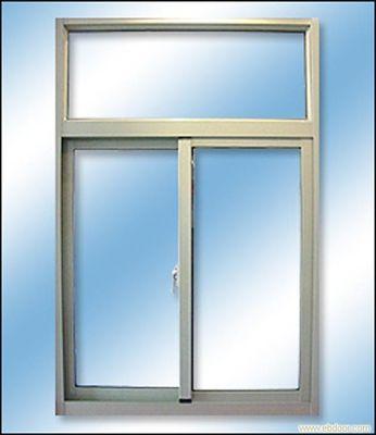 China Anodized Silver Sliding Sash Window /  Double Sliding Window Aluminium Frame distributor