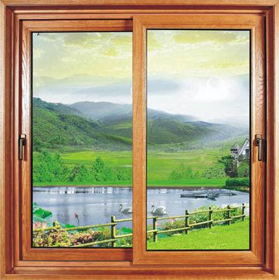 China Kitchen Household Sliding Sash Window Powder Coating /  Reflective Glass Double Slider Window distributor