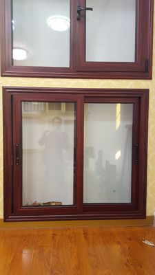 Thermal Break Aluminium Sliding Windows Villa Energy Saving Building Bedroom