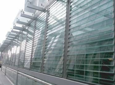 China White Outside Glass Shutter Window Powder Coating 1.4 mm Thickness For Ventilation distributor