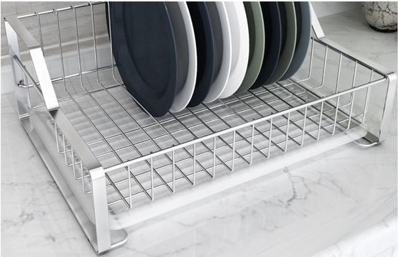 China Dish Drying Kitchen Wire Baskets Chrome / Powder Coating Elegant Design distributor