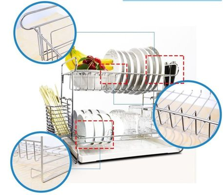 China Wall Mounted Kitchen Wire Baskets Large Storage Space Free Move For Houseware distributor