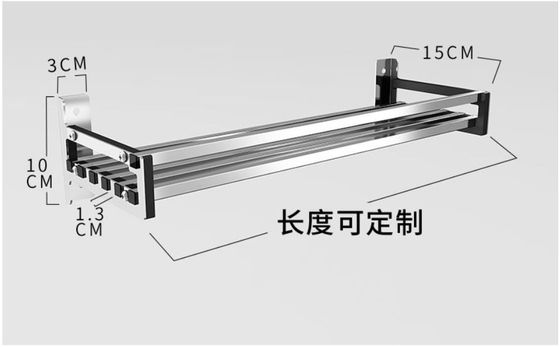 China Office And More Floating Wall Mounted Kitchen Rack 304 Stainless Steel Material distributor