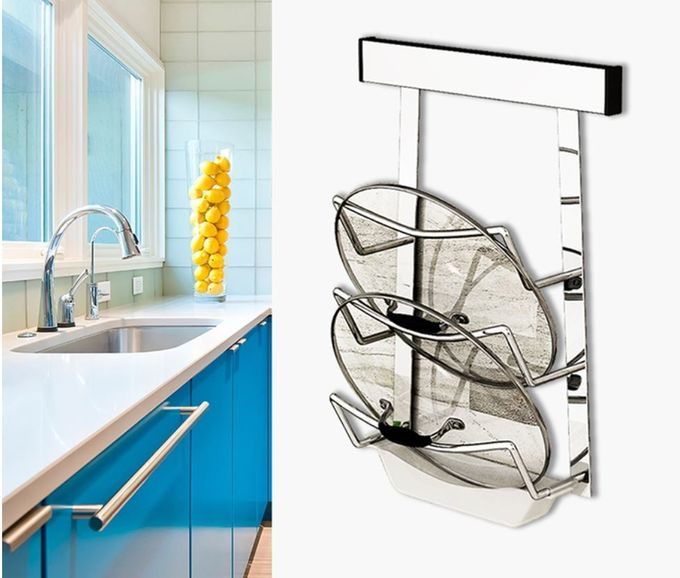 Simple Houseware Wall Mounted Kitchen Rack Innovative Design For Heavy Loads